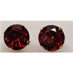 $300 2 14K Garnet Earrings