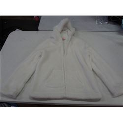 New White Size XS Fuzzy Hoodie