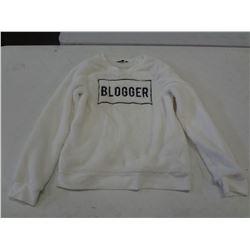 New Size xs White Fuzzy Sweater