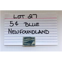 STAMP, NEWFOUNDLAND, 5 CENTS