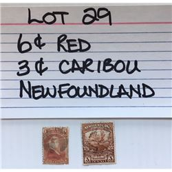 STAMP, NEWFOUNDLAND, 3 & 6 CENTS