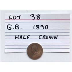 COIN, GB,1890, HALF CROWN