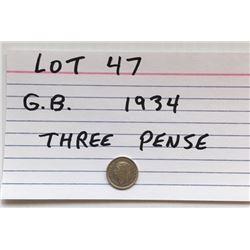 COIN, GB, 1934, 3 PENSE