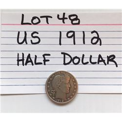 COIN, US, 1912, HALF CROWN