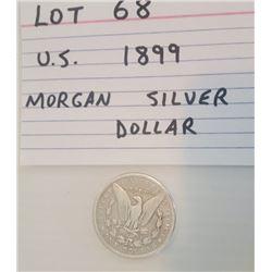 COINS, US, 1899, DOLLAR
