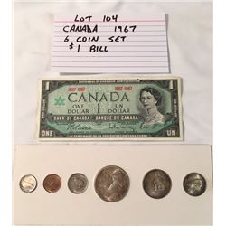 COINS, CANADA, 1967