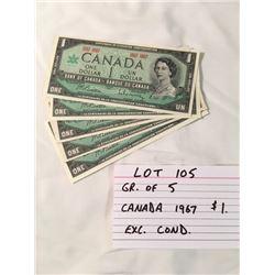 PAPER MONEY, CANADA, 1967