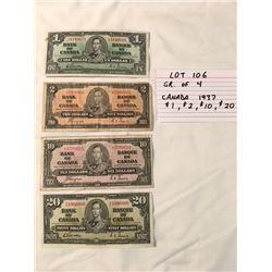PAPER MONEY, CANADA, 1937
