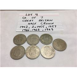 COINS, GB, 1942-1963, 1/2 CROWN