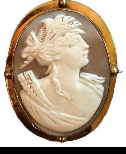 8580b7b4fee18 Late 19thc Gold Mounted Cameo Brooch Pendant