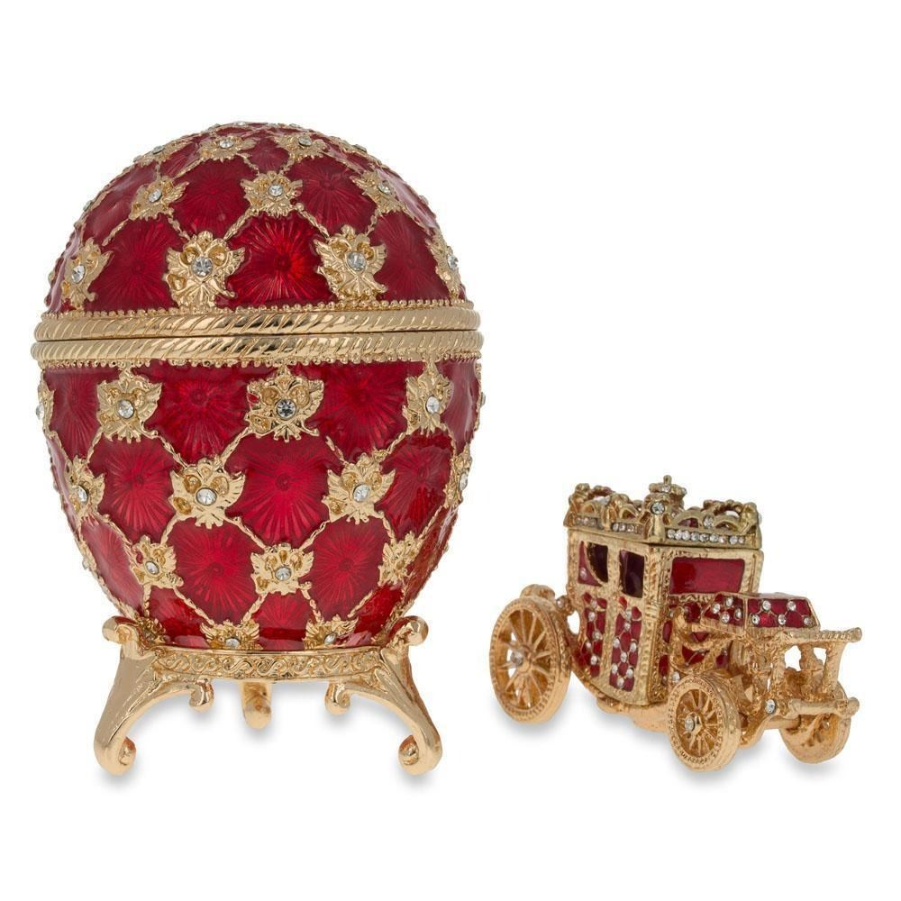 1897 Coronation Royal Russian Egg 7 Inches