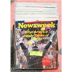 40 VINTAGE NEWSWEEK COLLECTORS MAGAZINES