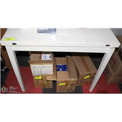 SWIVEL CRAFT TABLE - UNFOLDS TO DOUBLE TOP SIDE