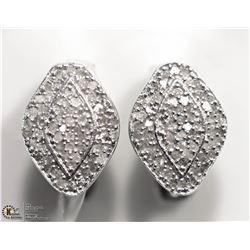 8) STERLING SILVER 118 DIAMOND EARRINGS