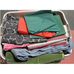 TOTE OF ASSORTED  MATERIAL