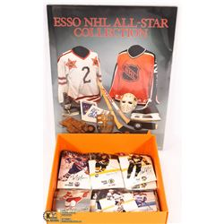 NHL ALL-STAR HOCKEY CARDS & BOOK --- 1960'S TO 80'