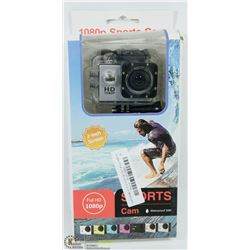 NEW 1080P SPORTS ACTION CAM W/MOUNTS