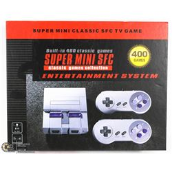 SNES RETRO GAMING SYSTEM W/400 CLASSIC GAMES BUILT