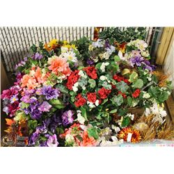 PALLET OF ARTIFICIAL FLOWERS AND VINES