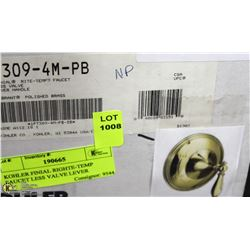 KOHLER FINIAL RIGHTE-TEMP FAUCET LESS VALVE LEVER