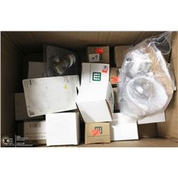 BOX OF NEW SHOWER PARTS
