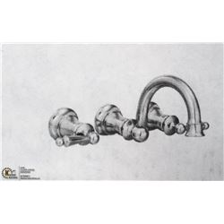 MOEN WATERHILL CHROME 2 HANDLE WALL MOUNT BATHROOM