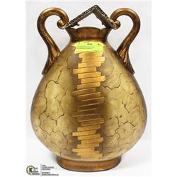 SHOW ROOM GOLD LEAF PATTERNED VASE 16""