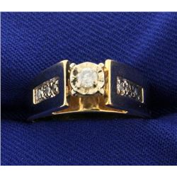 Diamond Ring with Sylish High Shoulders