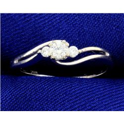 1/5 ct TW Diamond White Gold 3 Stone Ring