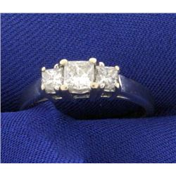 1ct TW Three Stone Princess Cut Diamond Ring