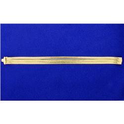 8 Inch Herringbone Bracelet