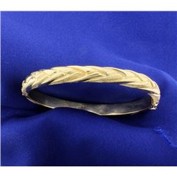 14K Hinged Bangle Bracelet