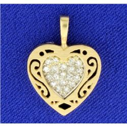 Vintage Diamond Heart Pendant