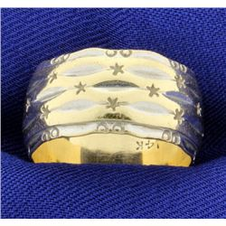 Wide Gold Band Ring