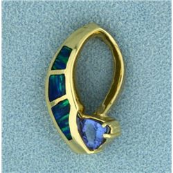 Tanzanite and Opal Slide/Pendant