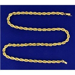 Heavy Rope Style Neck Chain