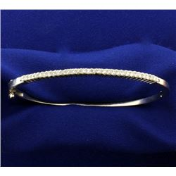 1/2ct TW Diamond Bangle Bracelet