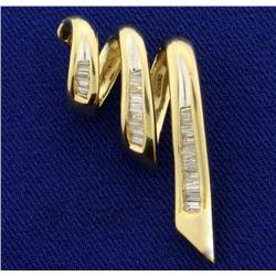 1 ct TW Baguette Diamond Slide or Pendant