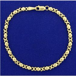 Hugs and Kisses Gold Bracelet