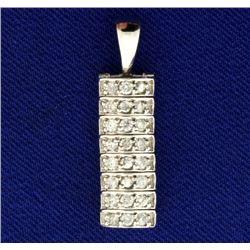 1/2ct TW Diamond Pendant