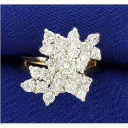 2ct TW Diamond Cocktail Statement Ring