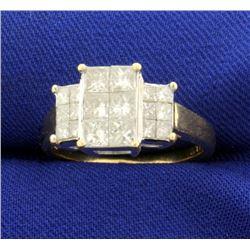 2ct TW Princess Cut Invisible Set Diamond Ring