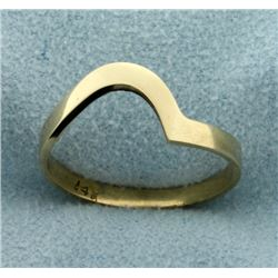 Abstract Modern Design Stacking Ring in 14k Yellow Gold