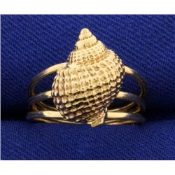 Conch Seashell 14k Gold Ring
