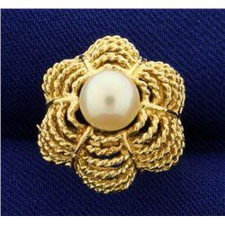 Pearl Designer Ring in 14k Gold