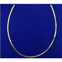 16 Inch Omega Necklace in 14k Gold