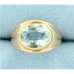 3 ct Sky Blue Topaz Ring in 14k Rose Gold