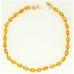 9.5ct TW Citrine Bracelet in 14k Gold