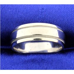 White gold 7mm Band Ring