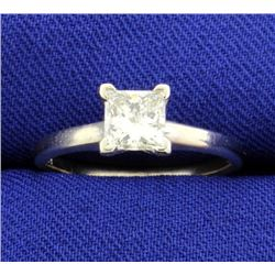 .84 Carat Princess Cut Diamond Solitaire Engagement Ring